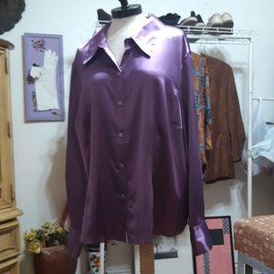 Metallic Purple blouse Sleep Day shirt B3